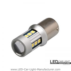 Ba15s (1156) Canbus Led Bulb 12V/24V With Lens