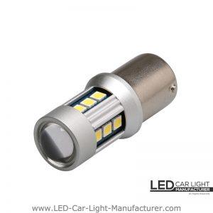 Ba15s (1156) Canbus Led Bulb 12V/24V With Lens