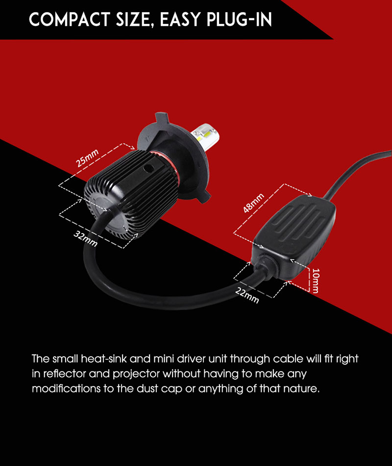 h4 led headlight bulb