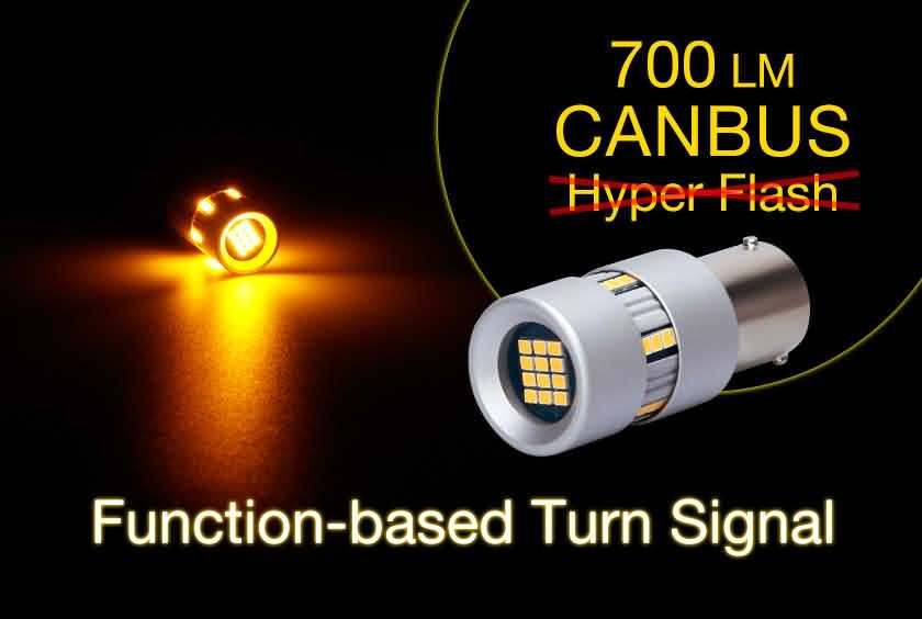 Super Canbus LED Turn Signal Light Fix Hyper Flash Issue