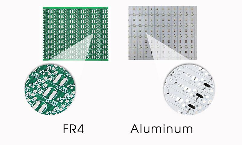 FR4 PCB vs  Aluminum PCB vs  Copper PCB vs  Ceramic PCB