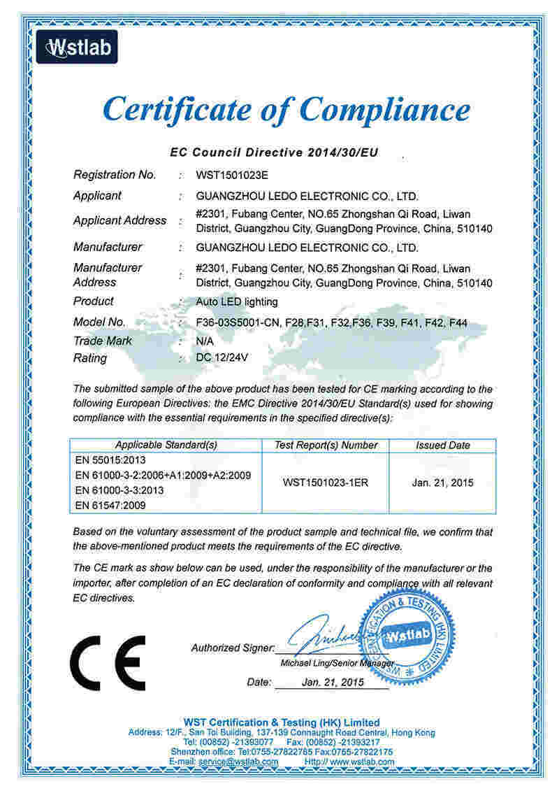 Led Bulb CE Certificate